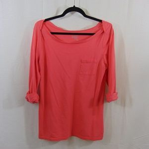Old Navy Pink Cuffed Long Sleeve Top
